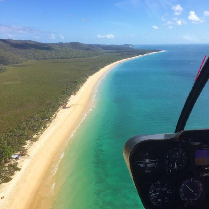 STRADBROKE ISLANDHelicopter Flight
