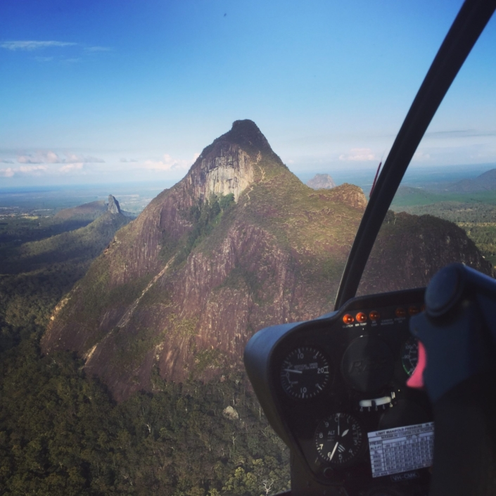 GLASSHOUSE MOUNTAINS HELICOPTER TOUR