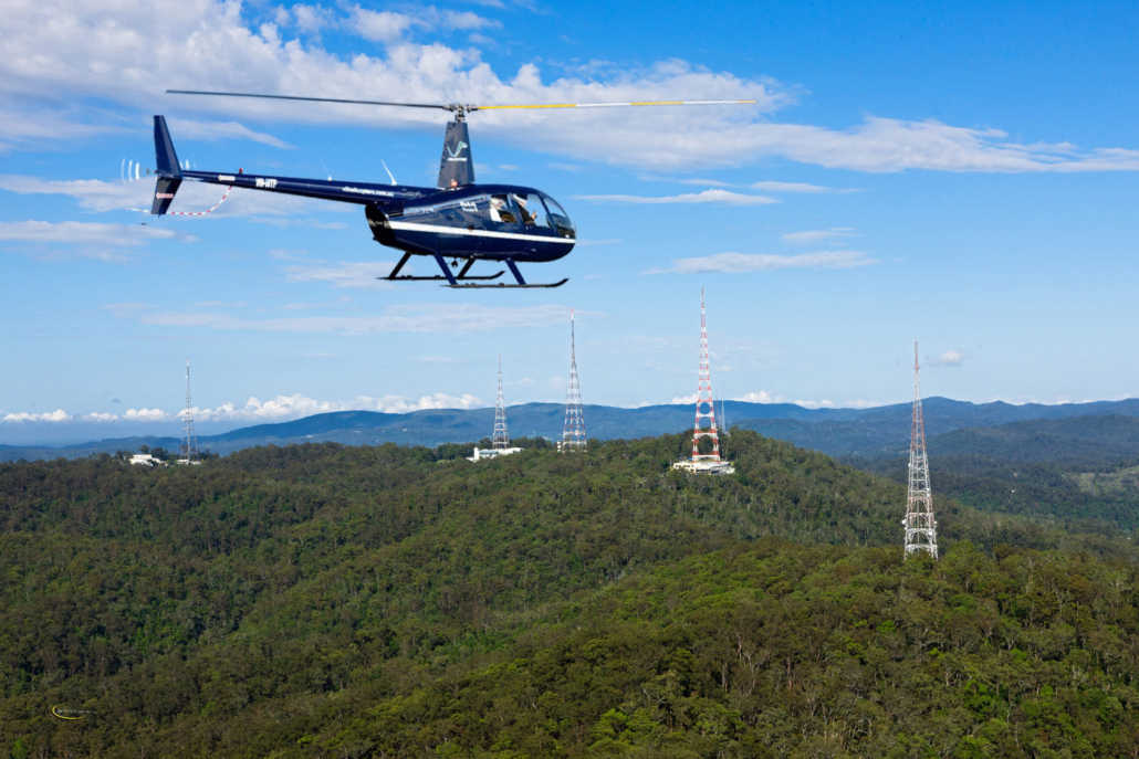 Mt Coot-Tha Helicopter flight